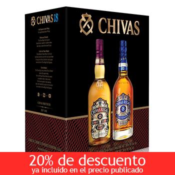 Costco: Paquete Chivas Regal whisky 12 años y 18 años 750ml. a $1,599 ($1,299 con Banamex)