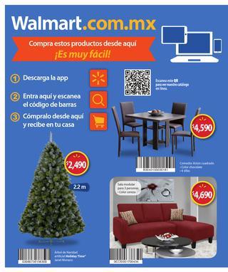 Folleto Navideño Walmart. Ejemplo:$1200 en iTunes por $1020, moto g 3a $3699 y varias medicinas 2 x $100 y más!