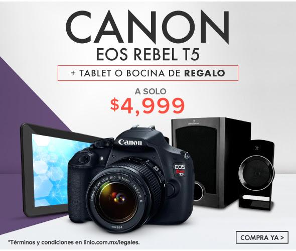 Linio: Canon T5 + Tablet o Bocina de regalo.