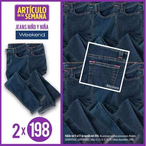 Suburbia: jeans para niños 2 por $198 ($99 cada uno)