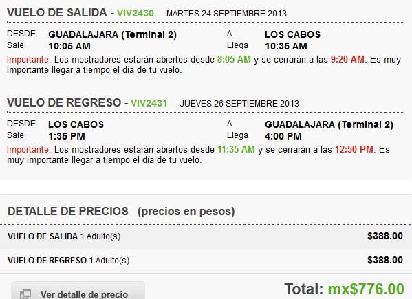 Venta Nocturna Vivaaerobus (ejemplo vuelo redondo Cancún o Los Cabos $776)
