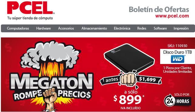 PCEL Disco Duro Portátil Western Digital Elements de 1 TB, USB 3.0. Envio GRATIS