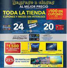 Best Buy: -$3,000 en iPads, $100 x cada $1,000 con Banamex, -$1,500 en laptops incluyendo MacBook y +