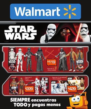 Catalogo de Walmart de productos de Star Wars que manejaran en la temporada.