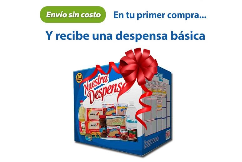 Walmart Super: Despensa basica gratis en tu primera compra con envio sin costo