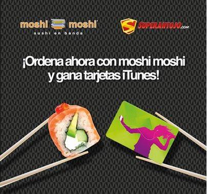 Tarjeta iTunes de $100 gratis ordenando comida de Moshi Moshi en Superantojo