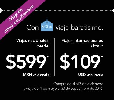 Volaris: nacionales desde $599 e internacionales $109 usd de mayo a septiembre