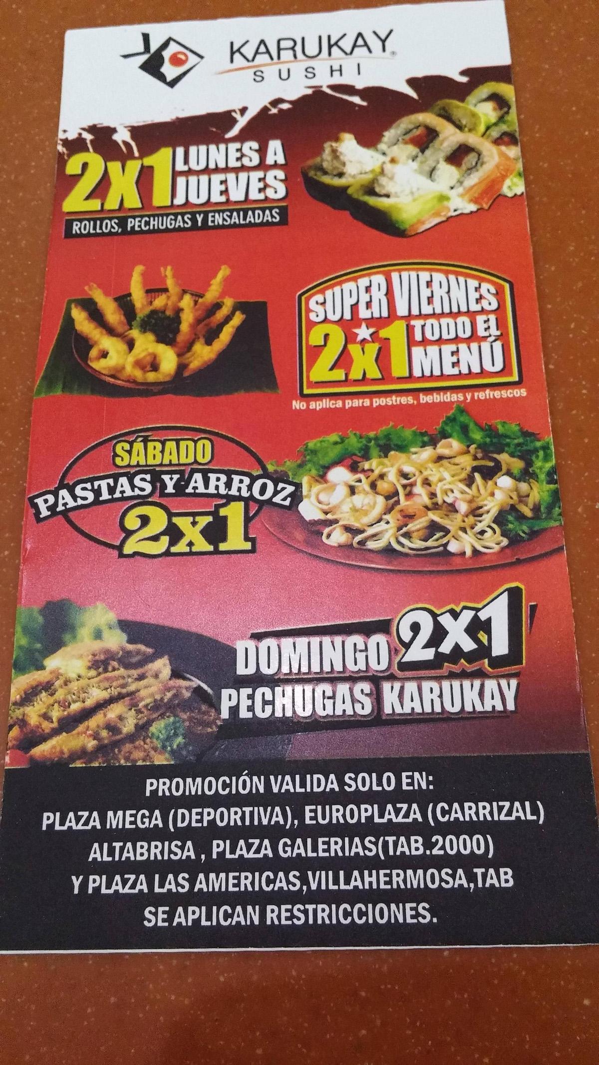 Promociones en Karukay Sushi (Tabasco)