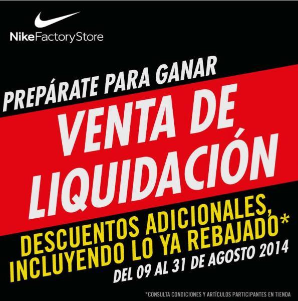 Venta de liquidación Nike Factory Store