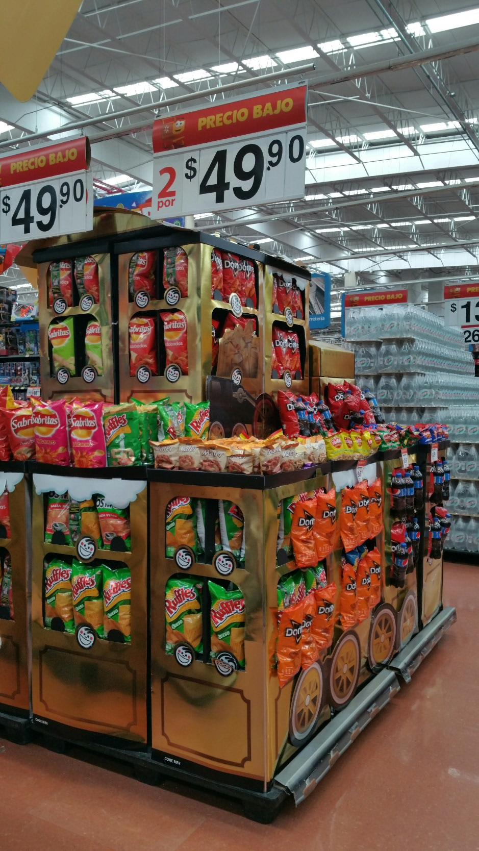 Walmart: 2 ruffles de 200 gr. y 2 doritos diablo de 155 gr. a $49.90