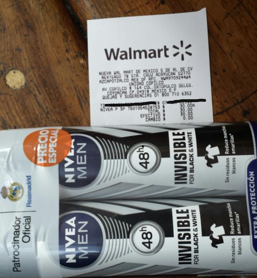 Walmart: Pack de dos desodorantes Nivea Men a $30