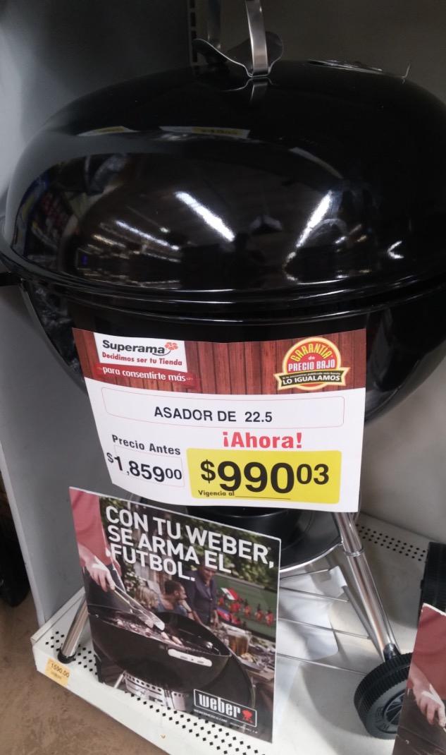 Superama: Todos los asadores WEBER en $990.03!