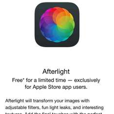 Apple Store: Afterlight GRATIS
