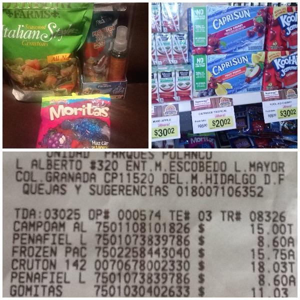 Superama Parques Polanco: Liquidaciones Protector Solar Frozen $15.75, Moritas $11.03, Croutones $18.03 y Packs de Jugos desde $20.02