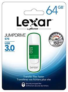 Amazon - Lexar JumpDrive S75 64GB USB 3.0 Memoria Usb