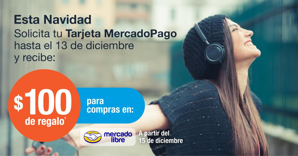 Tarjeta Mercado Pago: 100 de regalo para mercado libre