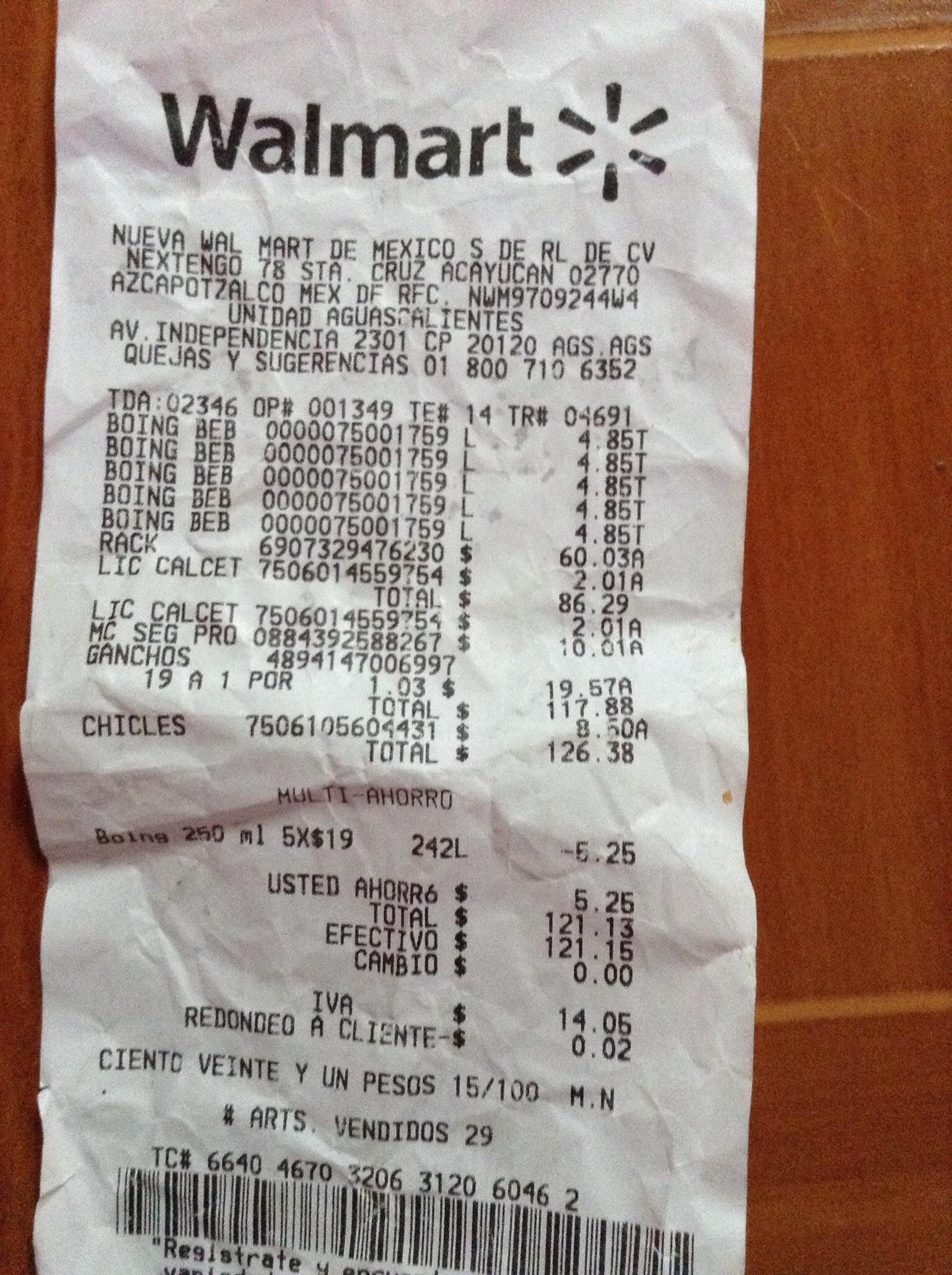 Walmart Aguascalientes: Calcetín de pepa a $2 ganchos a $1 y más