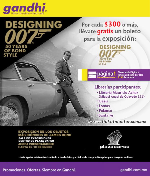 Librerías Gandhi: boleto para Designing 007 desde $150 de comrpa (DF, cuesta $197)