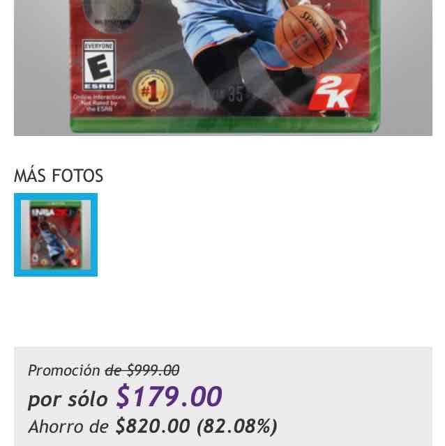 Netshoes - NBA2K15 Xbox one - $179