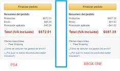 Amazon MX; GTA 5 para PS4 en 642 y para Xbox ONE en 687.35