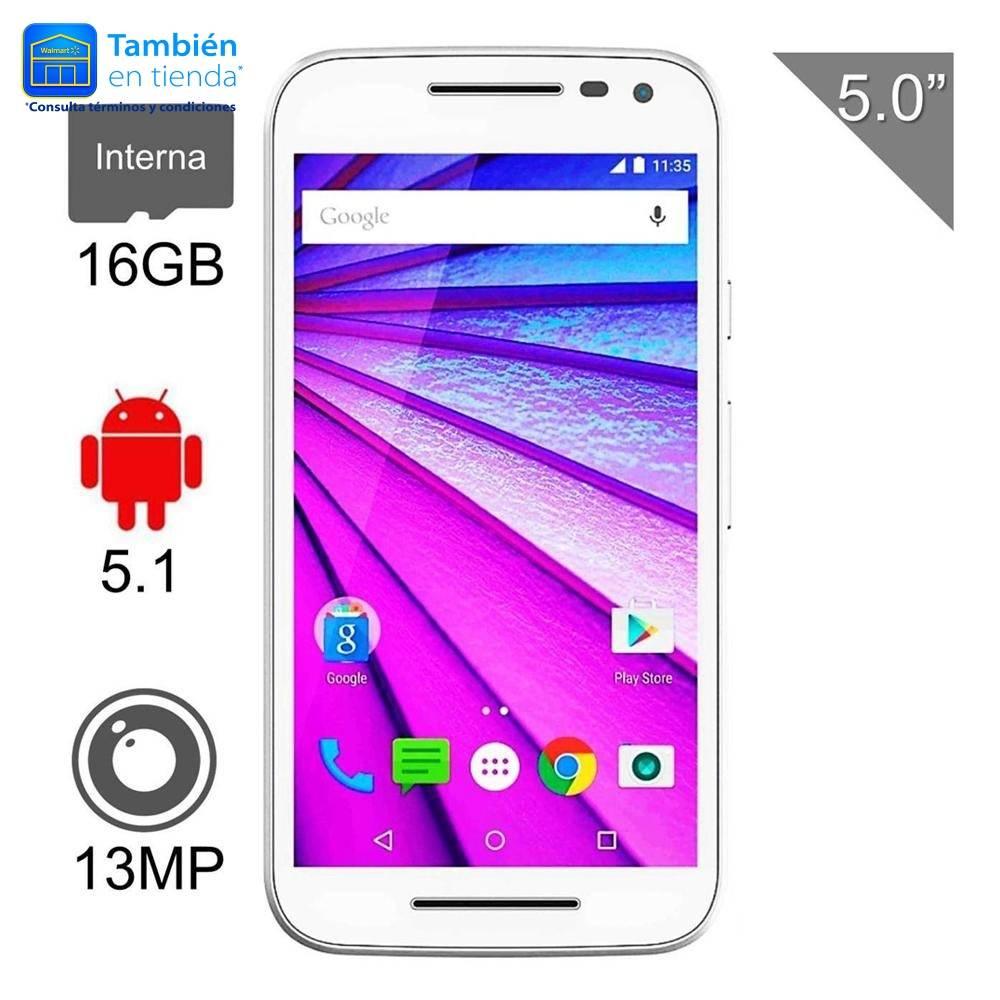 Walmart: Motorola Moto G 3ra Generación 16 GB Blanco o Negro