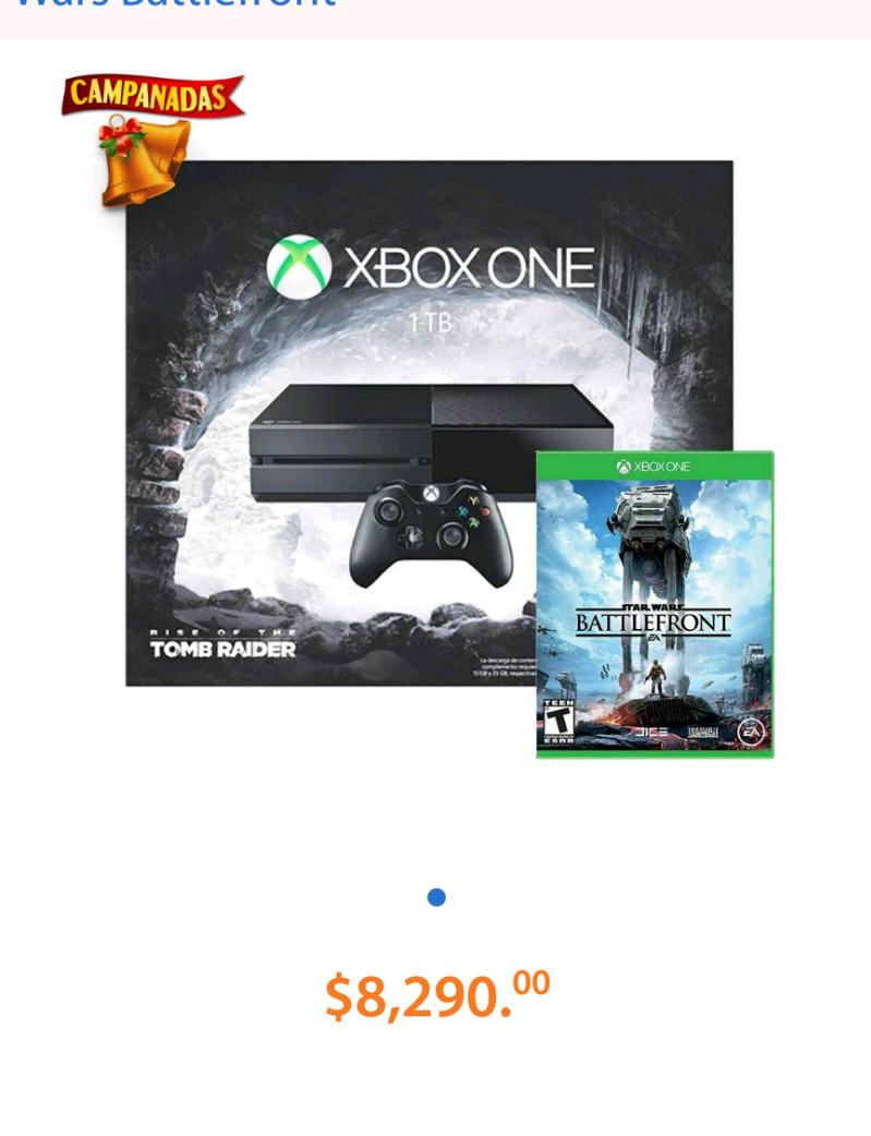 Walmart: Consola xbox one de 1Tb edición Tomb Raider + Star wars battlefront