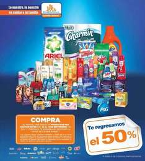 Chedraui: 50% de bonificación en productos P&G (Ariel, Zest, Duracell, Crest, Pantene, Gillette, etc)
