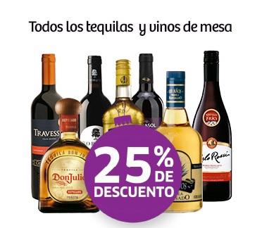 Soriana: Tequilas y Vinos de Mesa 25%, Bebidas Premezcladas 4 x 3 y más