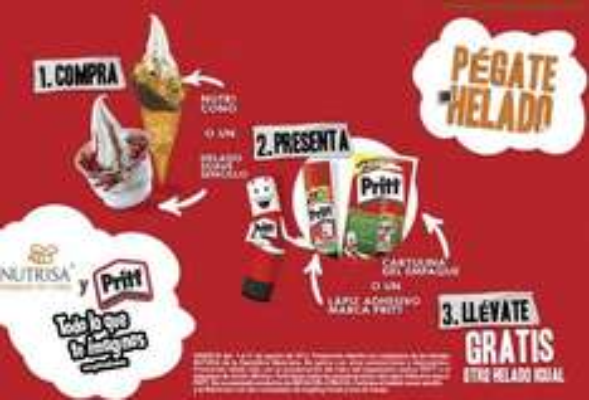 Nutrisa: 2x1 en helado Nutrisa comprando Pritt