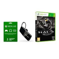sams club online: kit  xbox 360: 3 meses gold + halo Anniversay + audifono inalmbrico