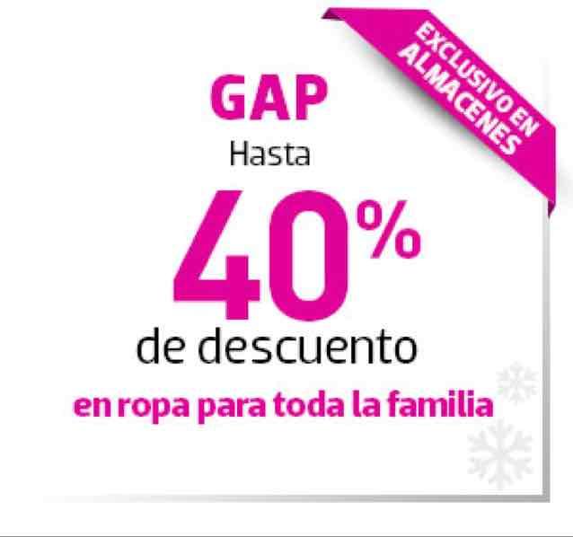 Liverpool y tiendas Gap: 40% de descuento en Gap