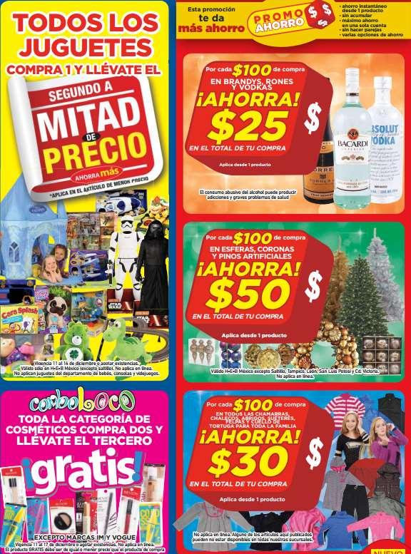 HEB: 3x2 en cosméticos, 2x1 y  medio en juguetes, descuentos en licores y más