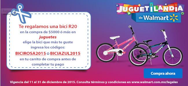 Walmart: Bicicleta Gratis R20 en la compra de $5000 en toda la tienda agregando algo del departamento de jugueteria