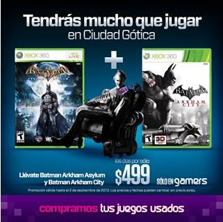 Gamers: Arkham Asylum + Arkham City $499 y más promociones