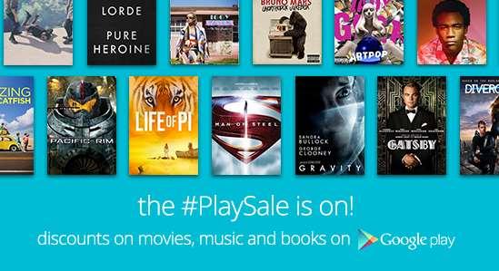 Venta especial en Google Play en discos y películas