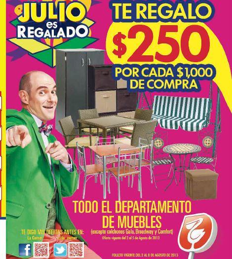 Folleto Julio Regalado en La Comer del 2 al 8 de agosto