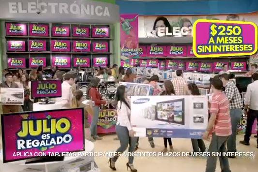 Julio Regalado en La Comer: $300 de descuento por cada $1,000 en electrónica y fotografía