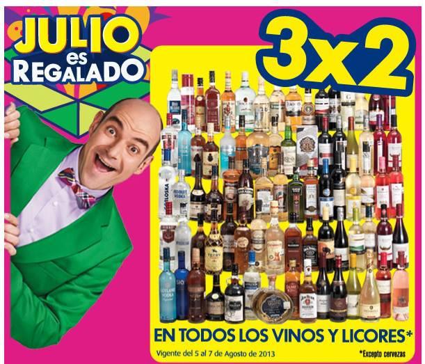 Julio Regalado en La Comer: 3x2 en vinos y licores (editado con precios)
