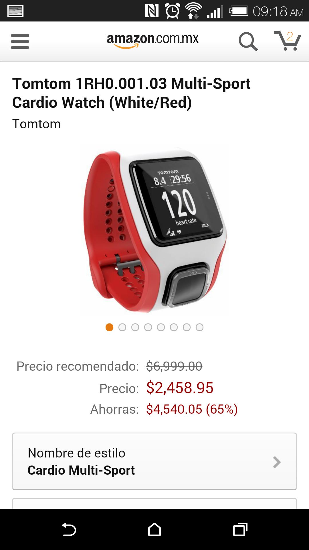 Amazon: Tomtom 1RH0.001.03 Multi-Sport Cardio Watch