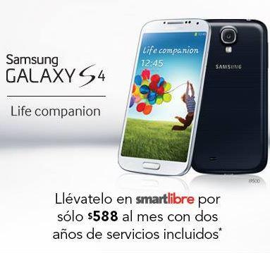 Iusacell: Samsung Galaxy S4 a $588 al mes