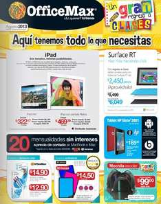 Folleto OfficeMax agosto 2013