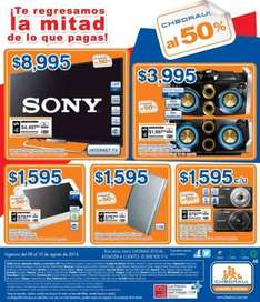"Chedraui: LED Smart TV Sony de 42"" $8,995 y $4,497 de bonificación"
