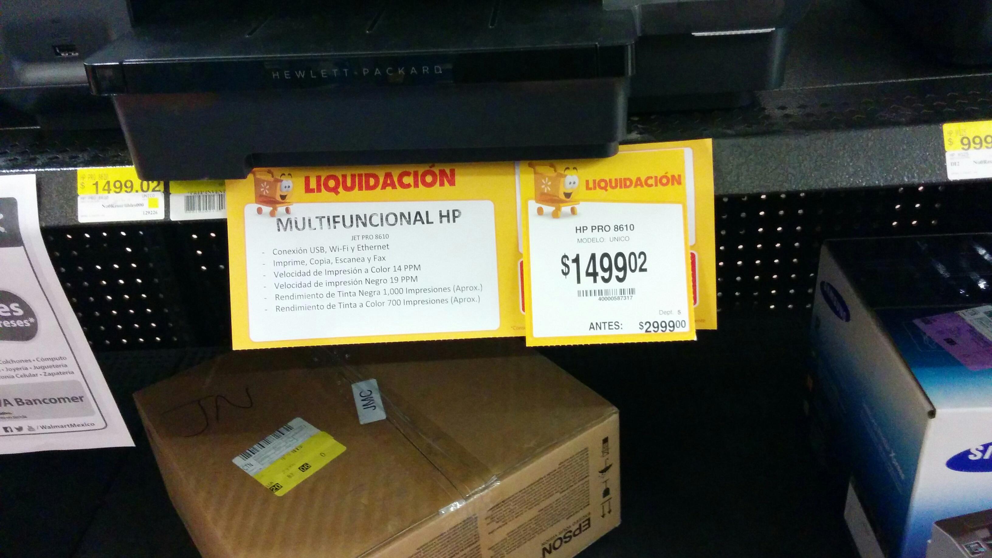Impresoras 50% desc. Walmart Culiacan. Ejemplo Impresora hp 3545 $799.02