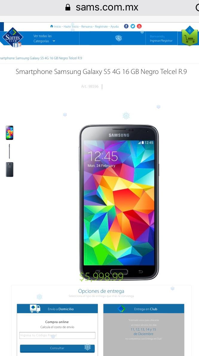 Samsung Galaxy S5 4G $5998.99 Sam's Club online