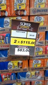 Superama: 2 party pack (8 cervezas) por $115