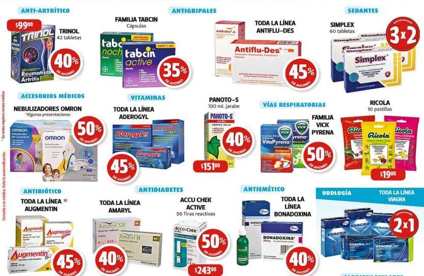 Farmacias Guadalajara: descuentos en Pepto Bismol, Aderogyl, Antiflu-Des y más