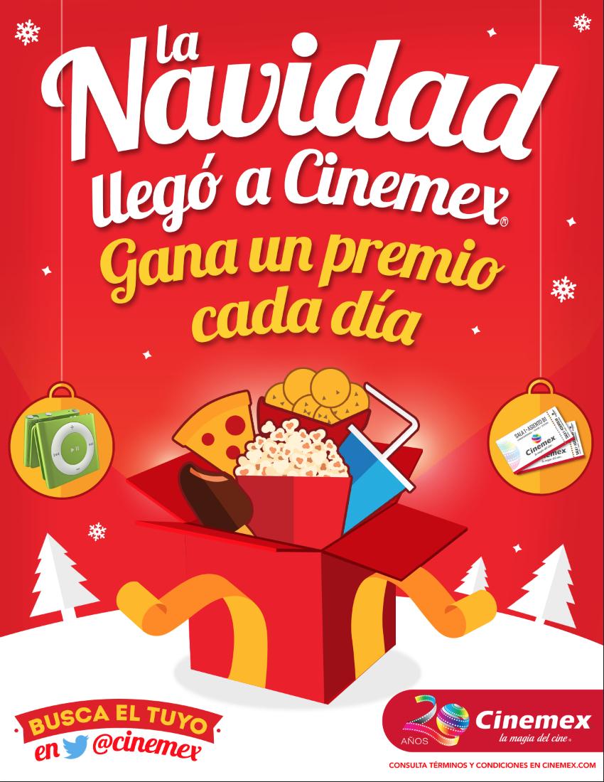 Regalo de Navidad Cinemex Día 5: Boleto gratis para cualquier sala