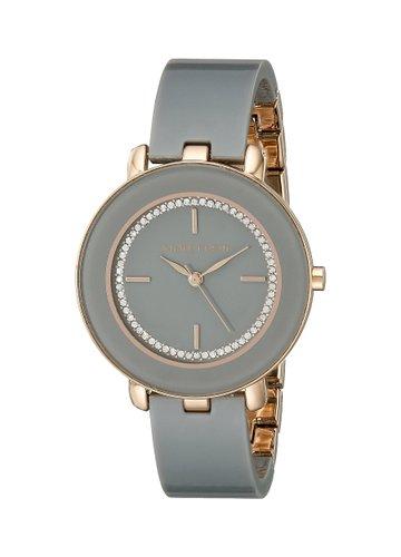 Amazon.com.mx: Anne Klein AK/1972RGGY Reloj con cristales de Swarovski, brazalete gris de resina, para mujer