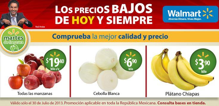 Martes de frescura Walmart julio 30: plátano $3.90 el kilo y más