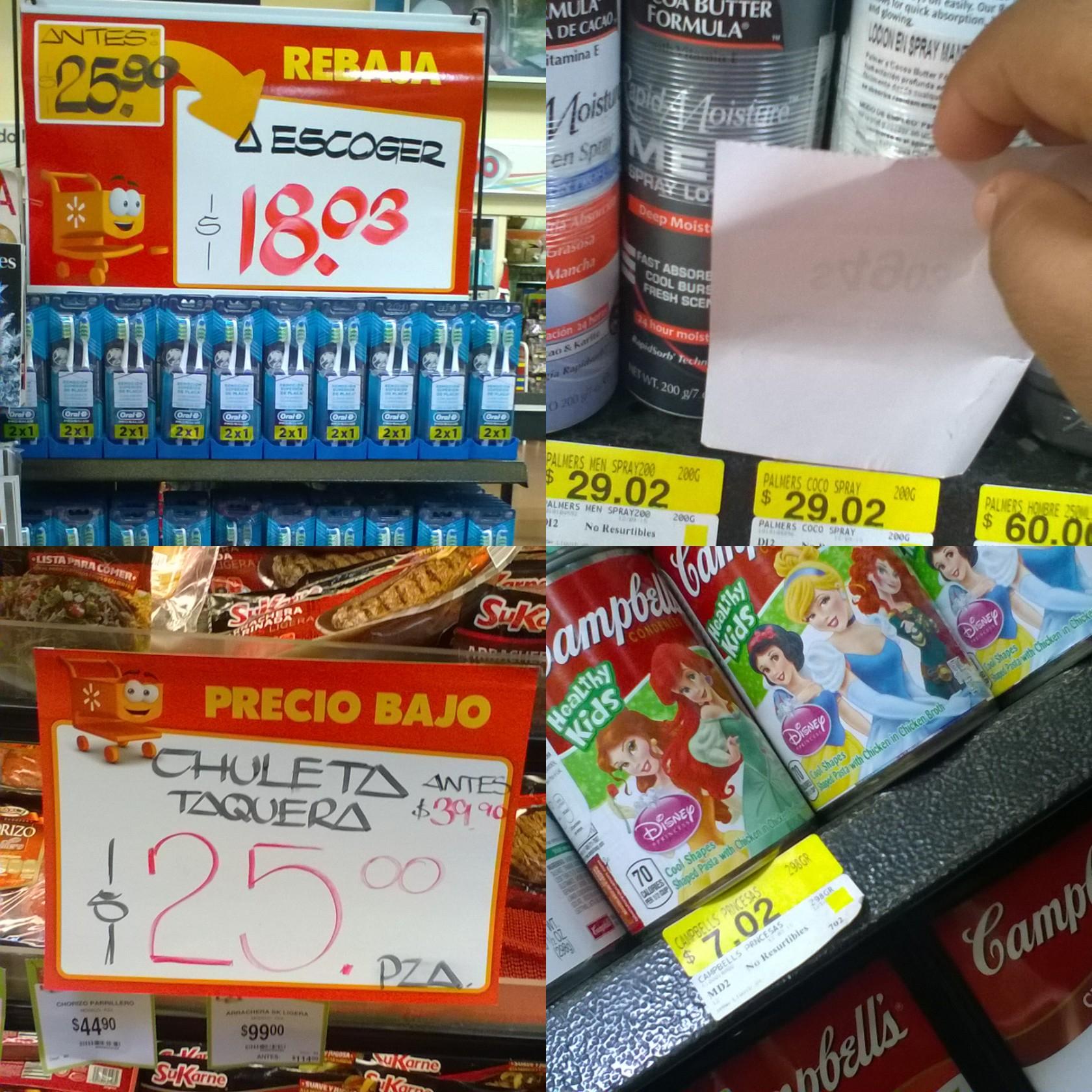 Walmart la cima de Zapopan: Varias ofertas desde $7.02 (Crema Campbells)
